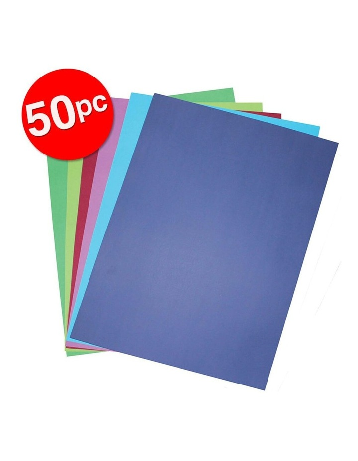 50 Pack A3 Board 200GSM Cool Art/Craft School Paper Assorted Colours image 2