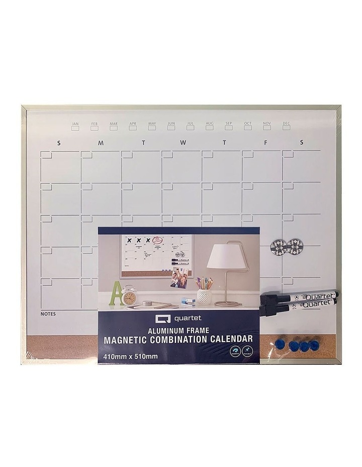 Magnetic Combination Monthly Calendar Board Home/Office/School w/Markers image 1