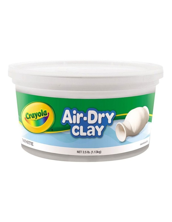 1.13kg Air Dry Clay Tub Kids/Children 6y  Modelling Mold Play Toy White image 1
