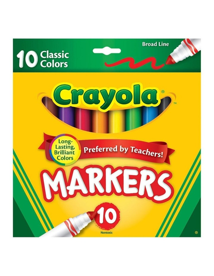 10PK Classic Broadline Markers Drawing Colouring Pen Kids 3y  Art/Craft image 1