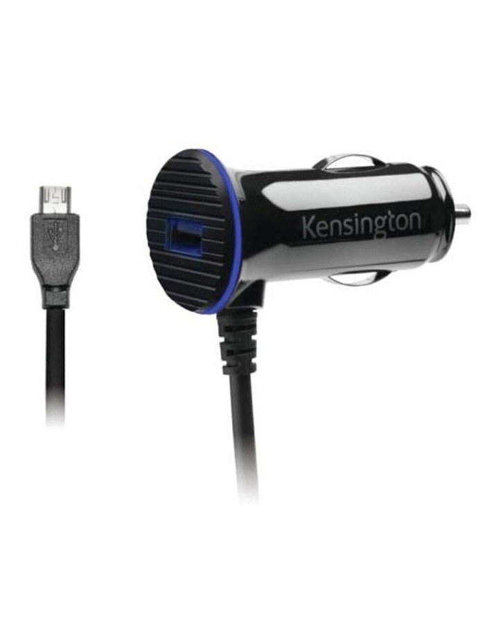 3.4 Amp Dual USB Fast Charge Car Charger w/ Micro USB Coiled Cable image 1