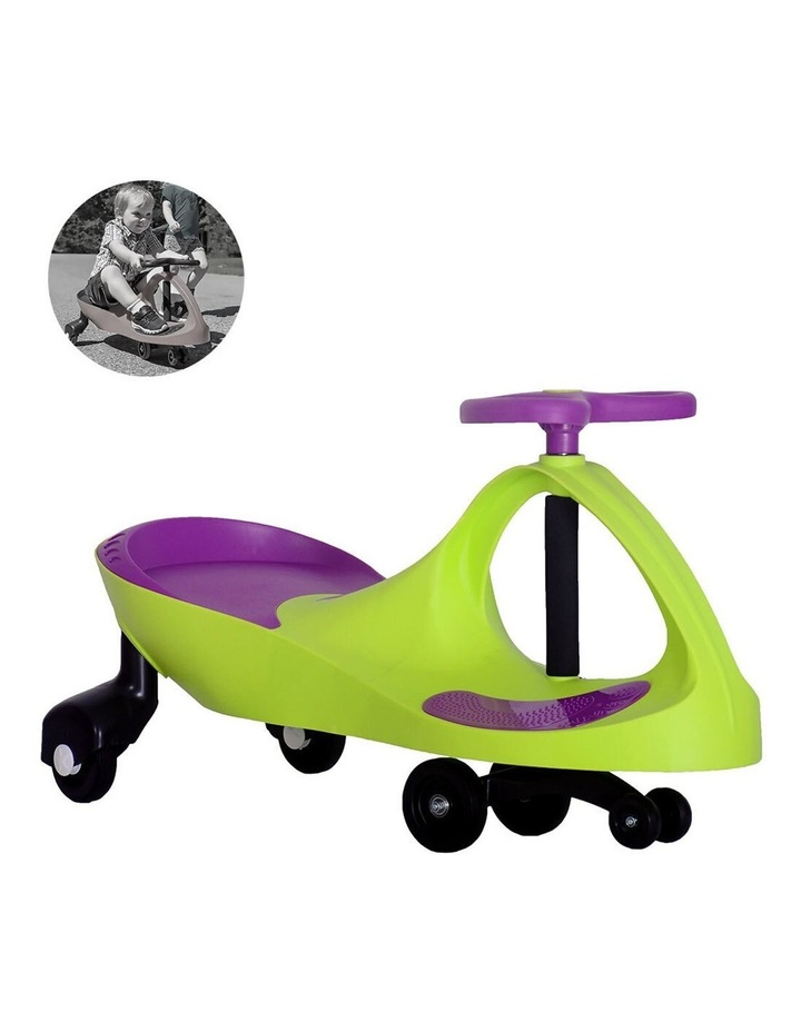 Pedal-free Ride-on Swing/Scooter Slider Car for Kids/Children 3y  Green image 2