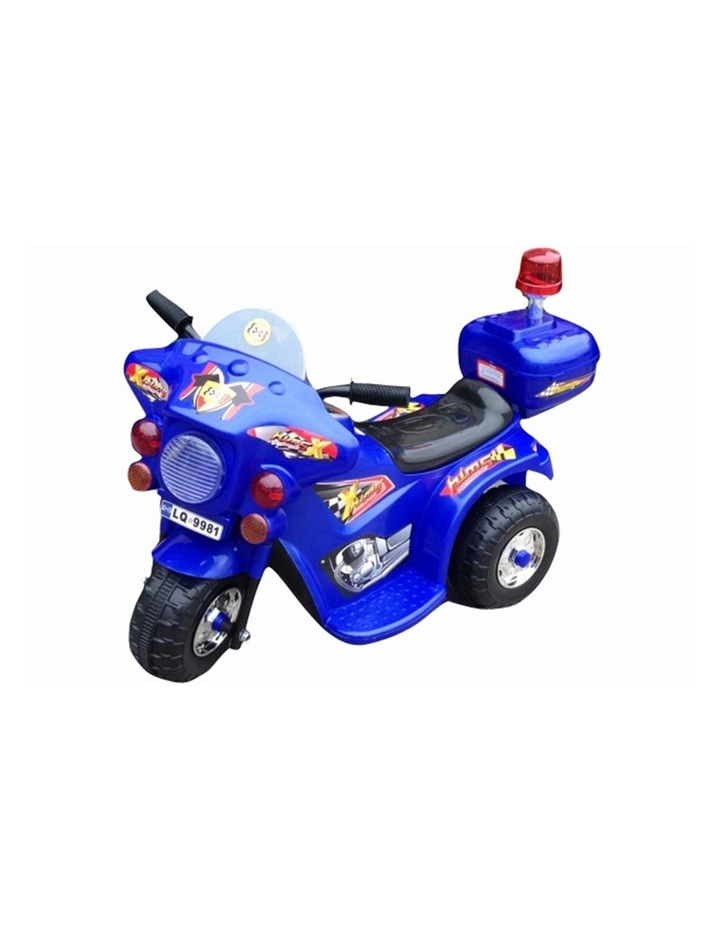Indoor/Outdoor Blue 3 wheel Electric Ride On Motorcycle Motor Trike Kids/Toddler image 1