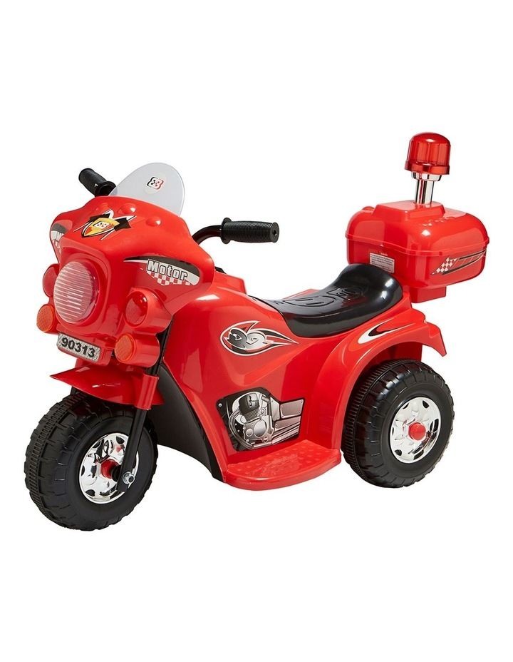 Indoor/Outdoor Red 3 wheel Electric Ride On Motorcycle Motor Trike Kids/Toddler image 1