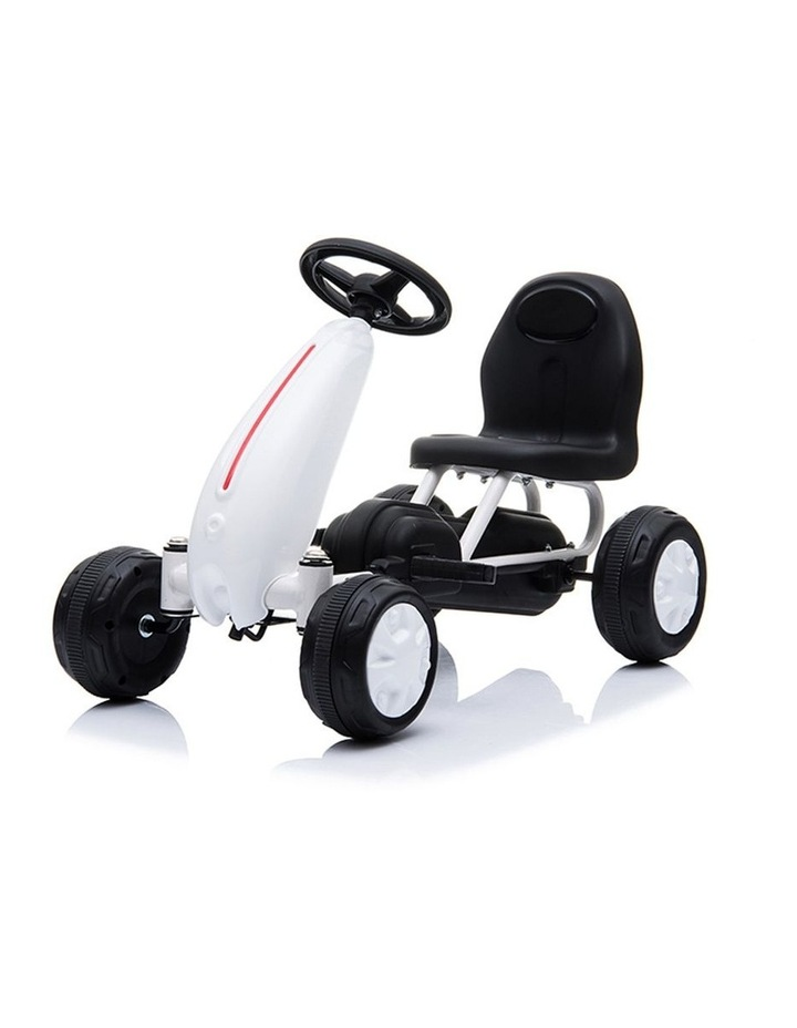 Kids Go Kart Pedal Ride On Children Racing Car Toy Buggy 18 Months  White image 1