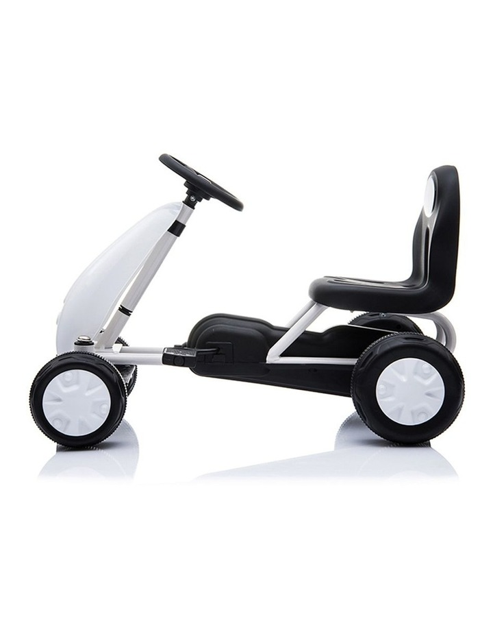 Kids Go Kart Pedal Ride On Children Racing Car Toy Buggy 18 Months  White image 2