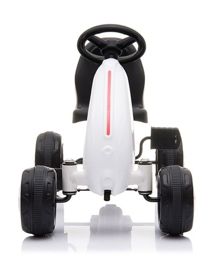 Kids Go Kart Pedal Ride On Children Racing Car Toy Buggy 18 Months  White image 3