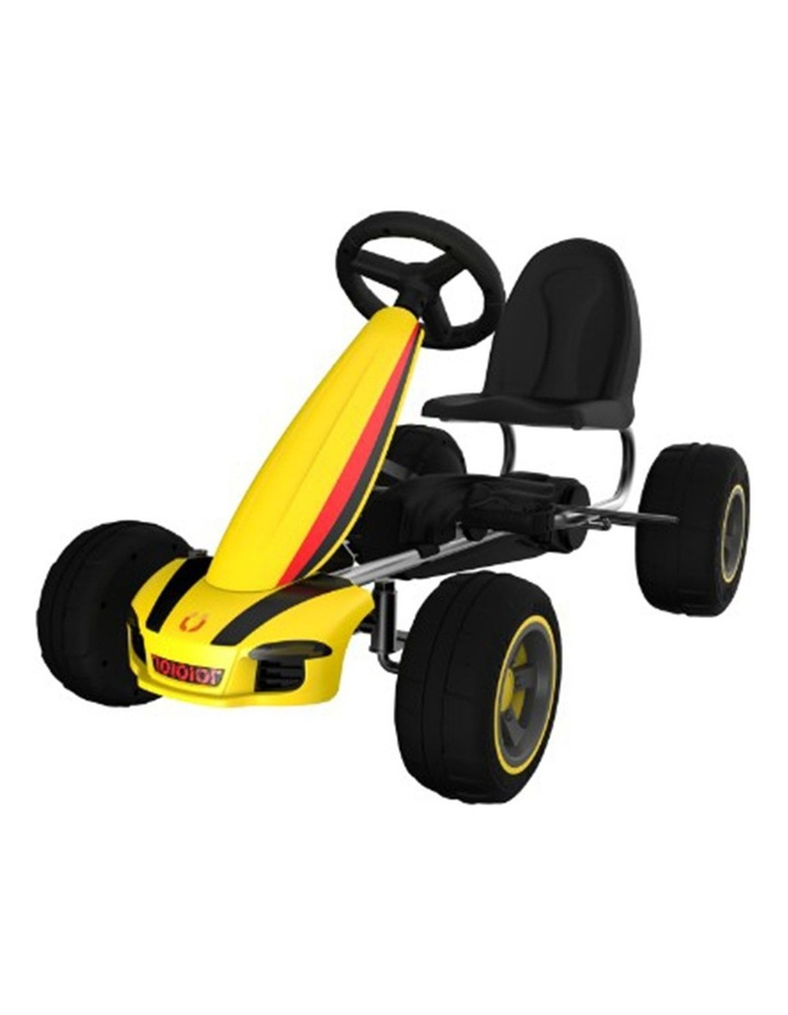 Kids Go Kart Pedal Ride On Children Racing Car Toy Buggy 3 Years   Yellow image 1