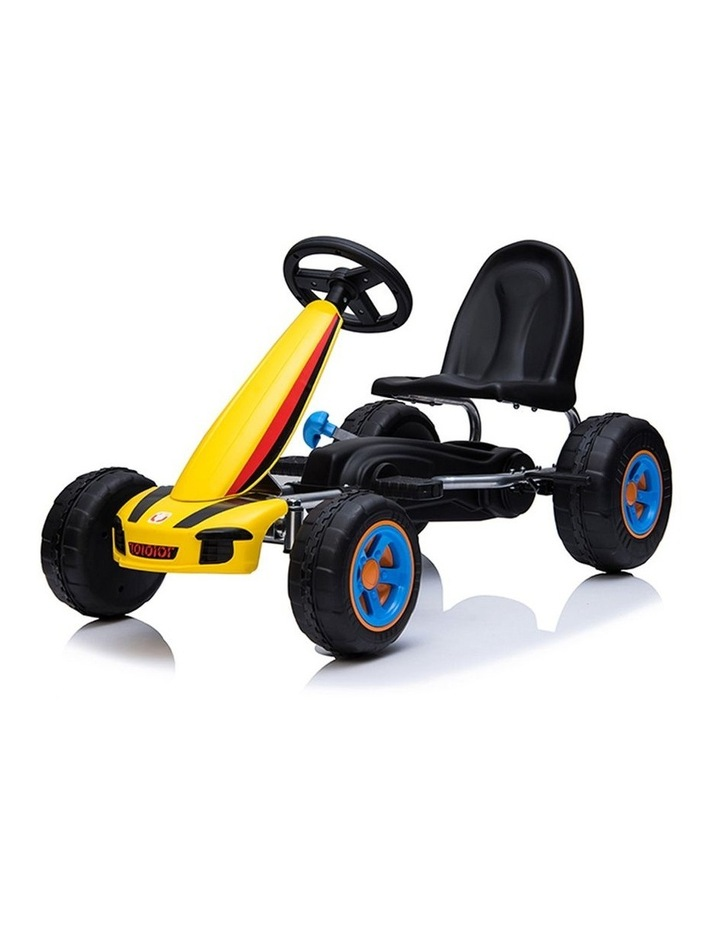 Kids Go Kart Pedal Ride On Children Racing Car Toy Buggy 3 Years   Yellow image 2
