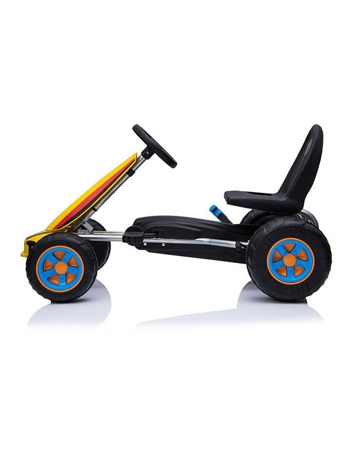 Kids Go Kart Pedal Ride On Children Racing Car Toy Buggy 3 Years   Yellow image 3