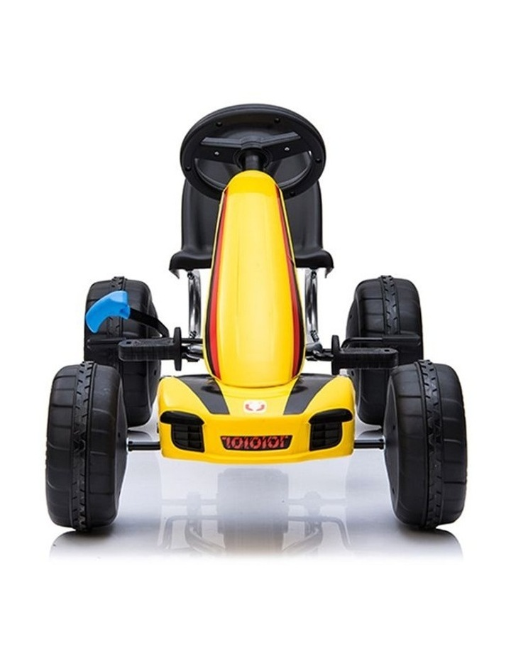 Kids Go Kart Pedal Ride On Children Racing Car Toy Buggy 3 Years   Yellow image 4