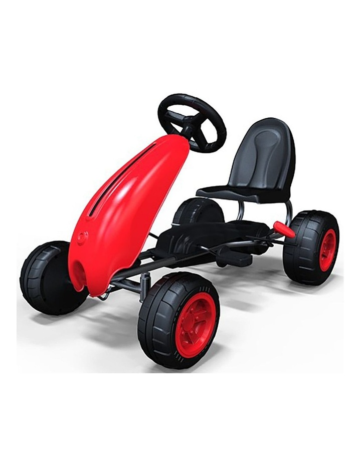 Kids Go Kart Pedal Ride On Children Racing Car Toy Buggy 3 Years   Red image 1