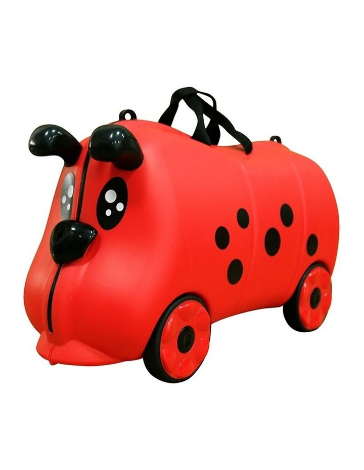 Kids/Children 18L Travel Cabin Luggage Trolley Ride On Wheel Suitcase Red image 2