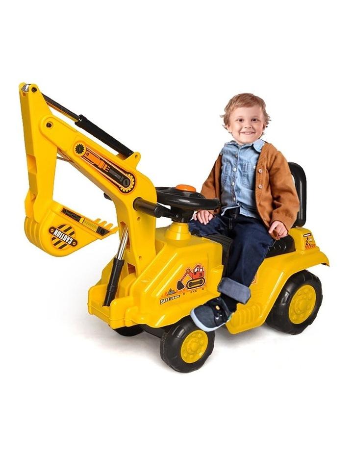 Ride On Excavator Kids/Children Outdoor Tractor Push/Kick Toy w/Lever 3y  image 1