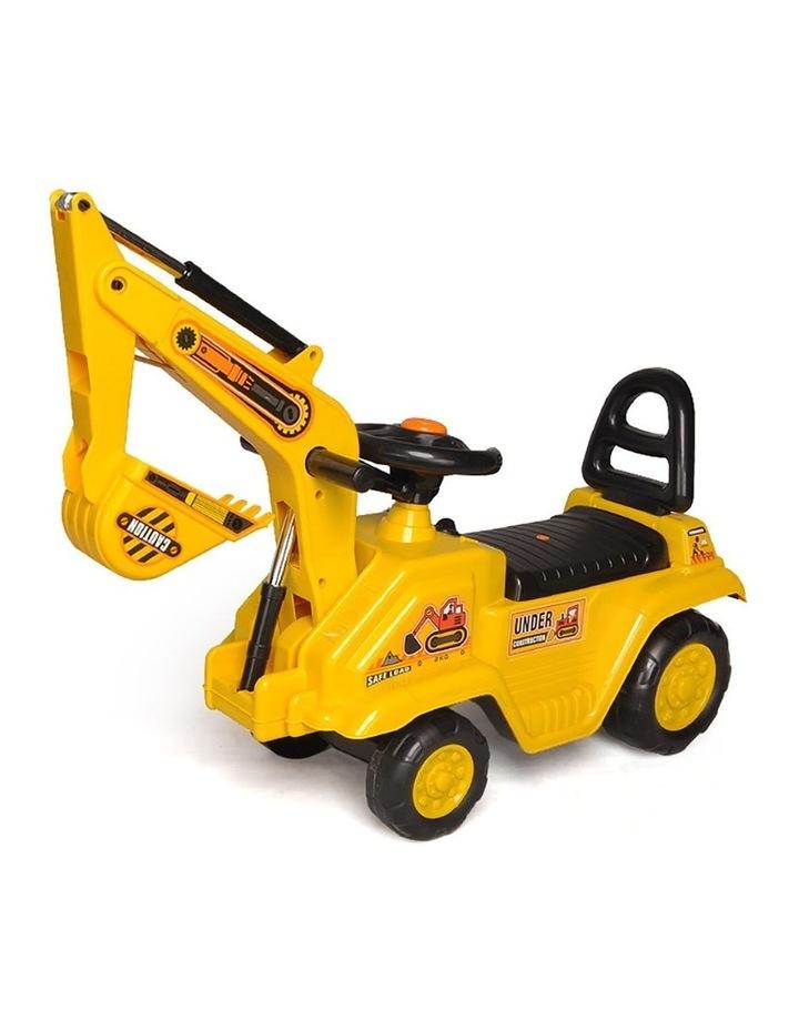 Ride On Excavator Kids/Children Outdoor Tractor Push/Kick Toy w/Lever 3y  image 2