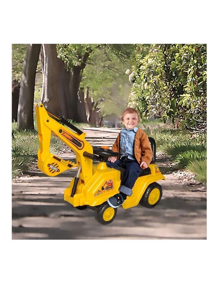 Ride On Excavator Kids/Children Outdoor Tractor Push/Kick Toy w/Lever 3y  image 3