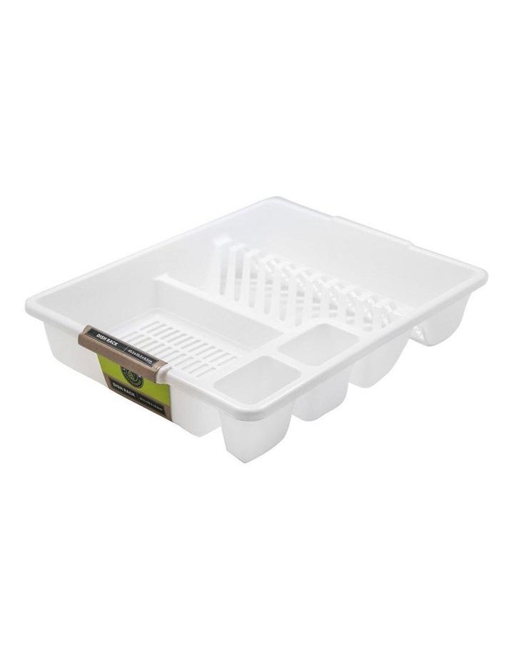 45cm x 36cm Plates/Bowls/Cutlery Dish Drainer/Rack/Holder White image 1