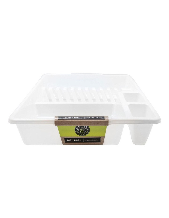 45cm x 36cm Plates/Bowls/Cutlery Dish Drainer/Rack/Holder White image 2