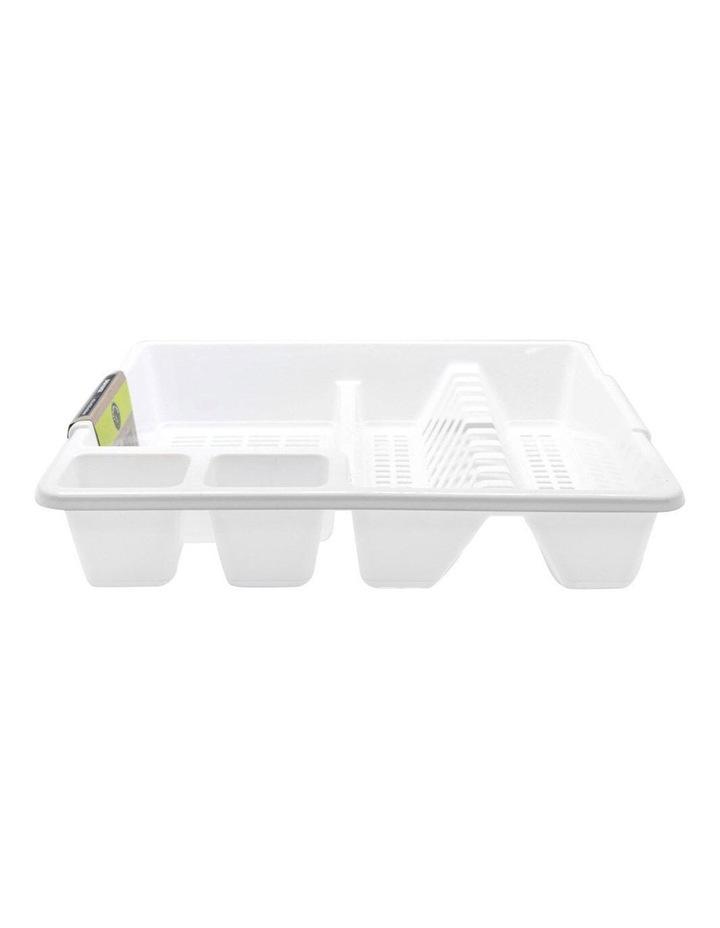 45cm x 36cm Plates/Bowls/Cutlery Dish Drainer/Rack/Holder White image 3