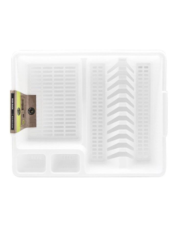 45cm x 36cm Plates/Bowls/Cutlery Dish Drainer/Rack/Holder White image 4