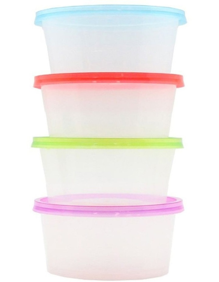 20PK 300ml Reusable Plastic Round Food Container w/Lid Takeaway image 3