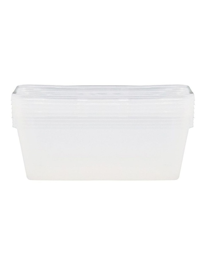 4PK 1000ml Reusable Food Container/BPA Free Plastic Storage Clear image 2