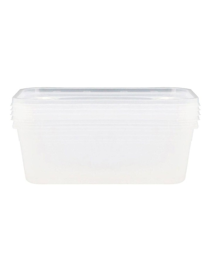 4PK Reusable BPA Free Plastic Food/Meal Containers Storage Clear image 2
