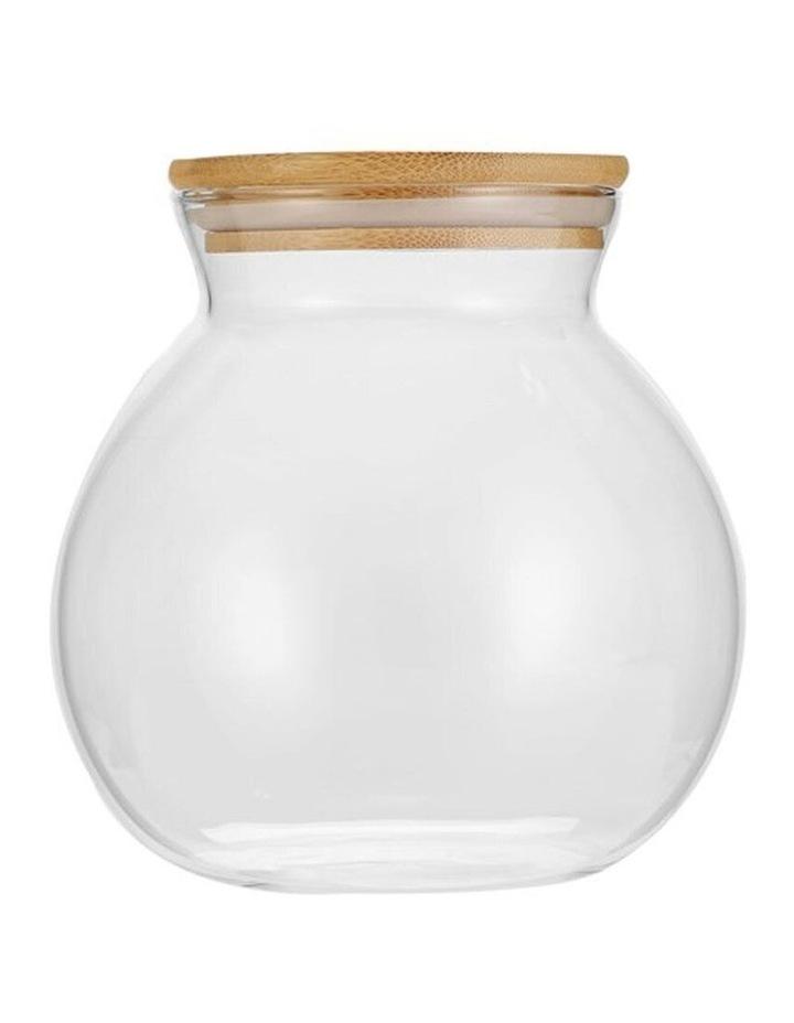 1.6L Camden Drink/Water Glass Round Jug Jar Storage w/ Bamboo Lid image 1