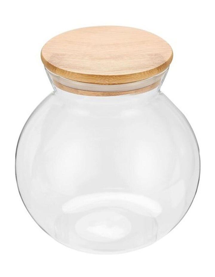 1.6L Camden Drink/Water Glass Round Jug Jar Storage w/ Bamboo Lid image 2