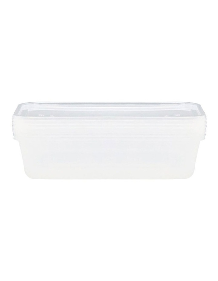 4PK  Reusable 950ml Food Containers Meal Kitchen Plastic Storage Clear image 2