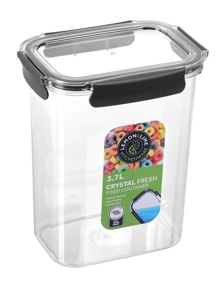 3.7L Crystal Fresh 25cm Plastic Food Container Pantry Storage BK image 1