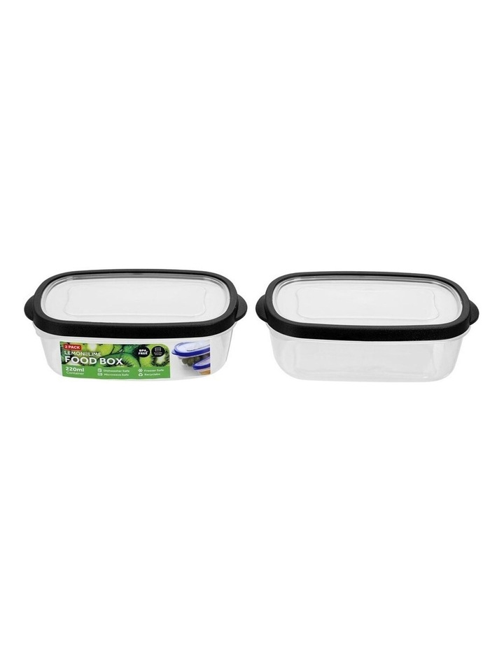 2PK 220ml Plastic 13cm Food/Snacks Box Storage Containers Asst. image 1