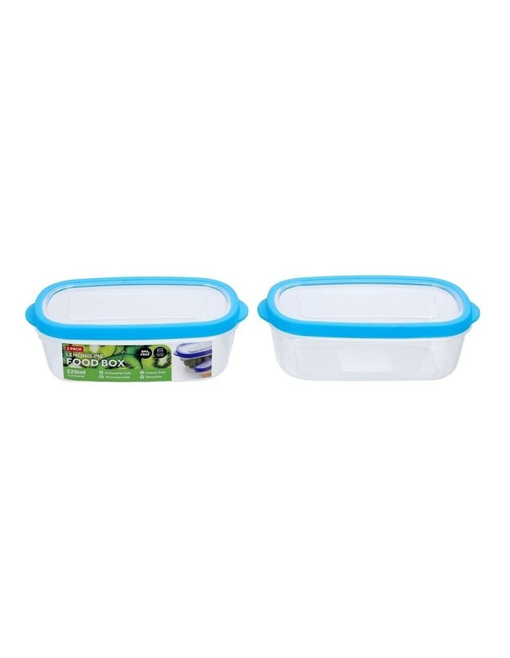 2PK 220ml Plastic 13cm Food/Snacks Box Storage Containers Asst. image 2