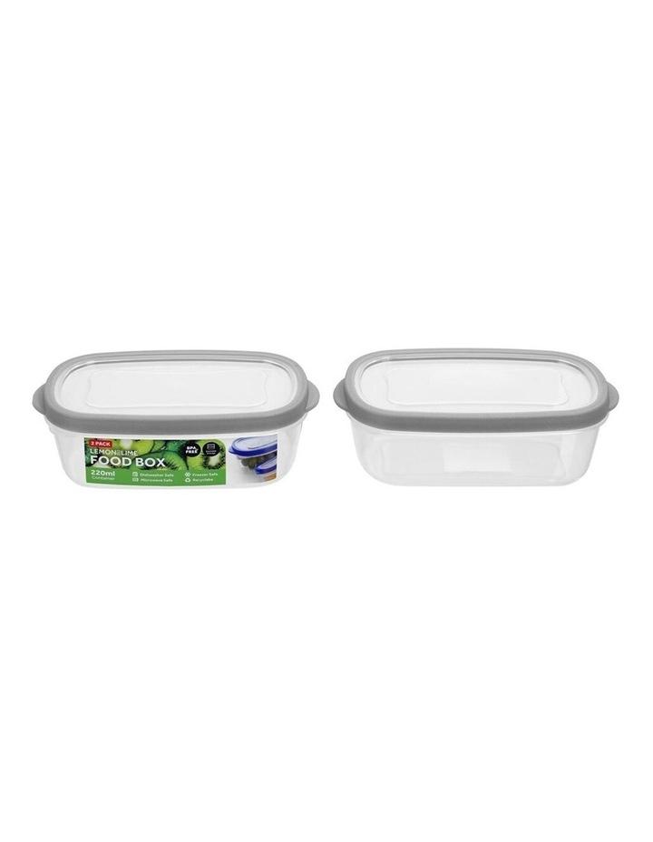 2PK 220ml Plastic 13cm Food/Snacks Box Storage Containers Asst. image 3