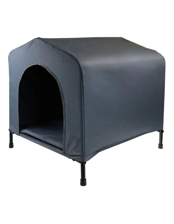 102x93cm Steel Frame Elevated Pet Large Dog House w/ Cushion Grey image 3