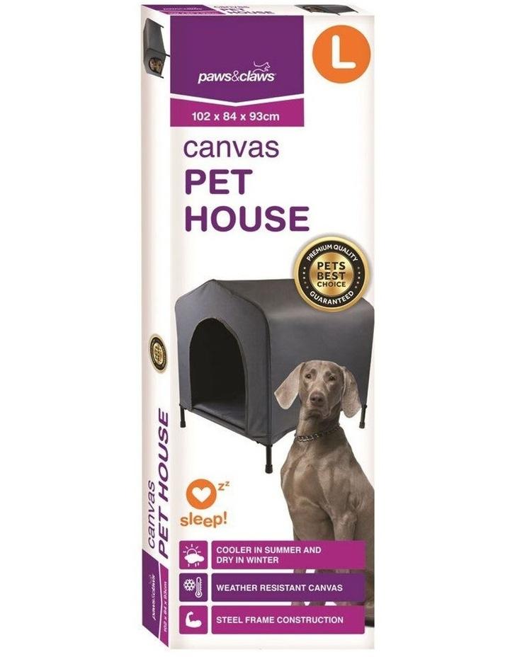 102x93cm Steel Frame Elevated Pet Large Dog House w/ Cushion Grey image 4