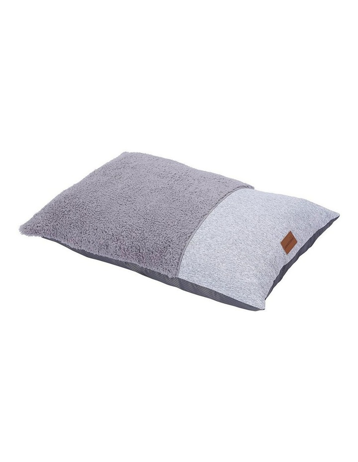 65cm x 45cm Small Primo Sherpa Pillow Pet/Dog Bed/Mattress Grey image 1