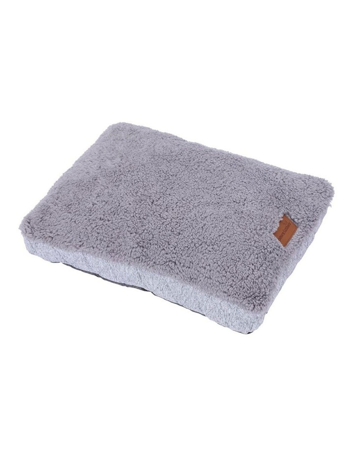 60cm x 45cm Small Primo Quilted Sherpa Pet/Dog Bed/Mattress Grey image 1