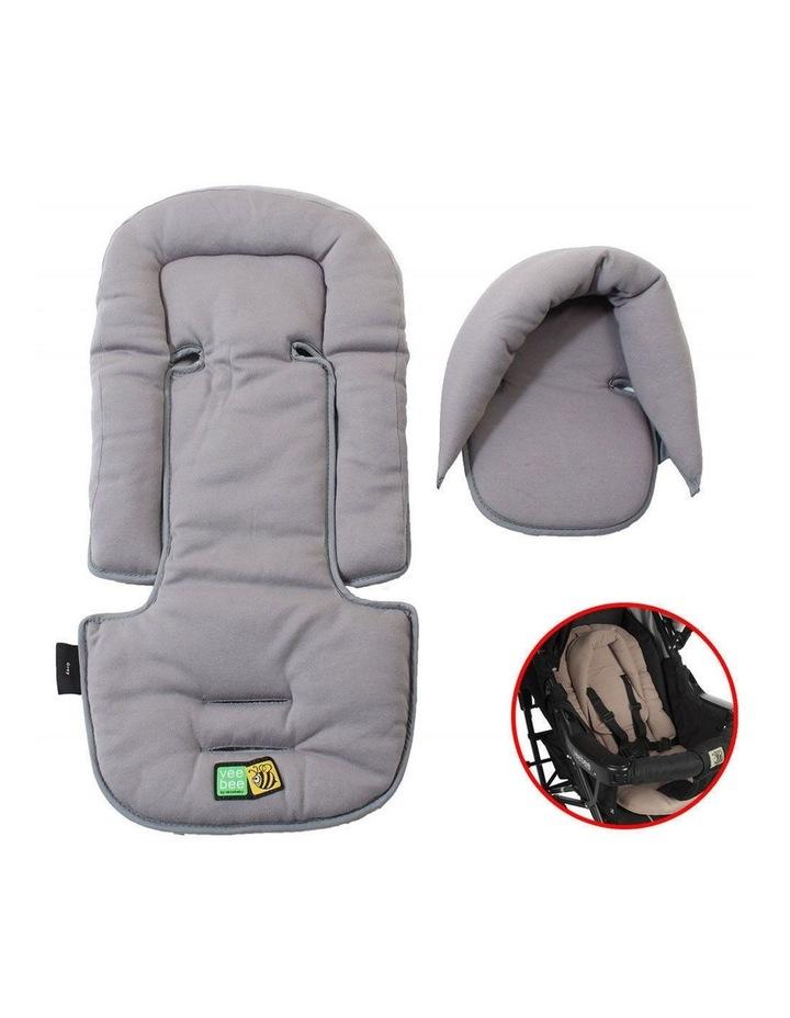 Allsorts Pad Infant Baby Head/Body Support f/Pram Stroller Car Seat Grey image 2