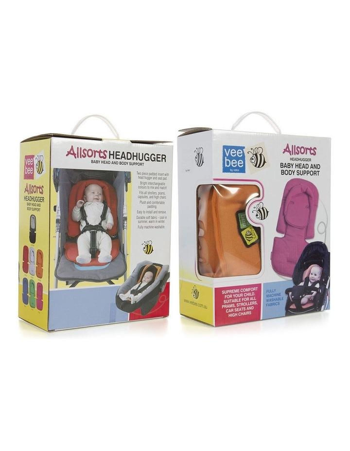Allsorts Pad Infant Baby Head/Body Support f/Pram Stroller Car Seat Grey image 3