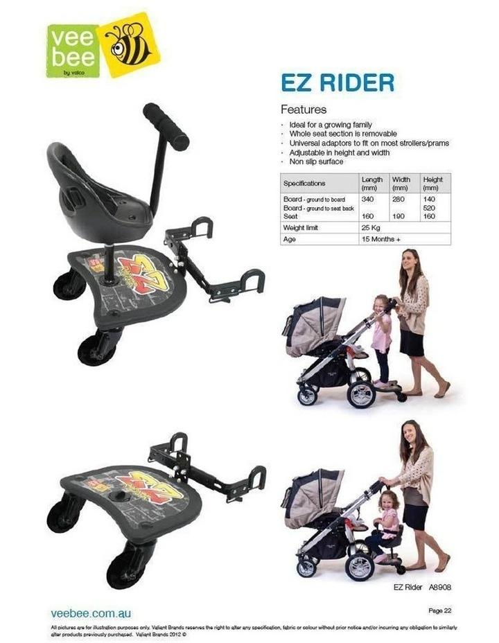 EZ Rider Stand/Sit Toddler Tandem Seat Board Connector for Stroller/Pram image 4