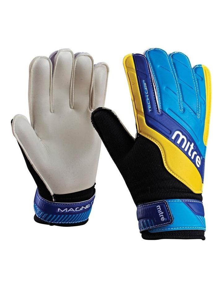 Magnetite Jnr Soccer/Football Goalie Goalkeeper Gloves Pair Size 6 Cyan image 1