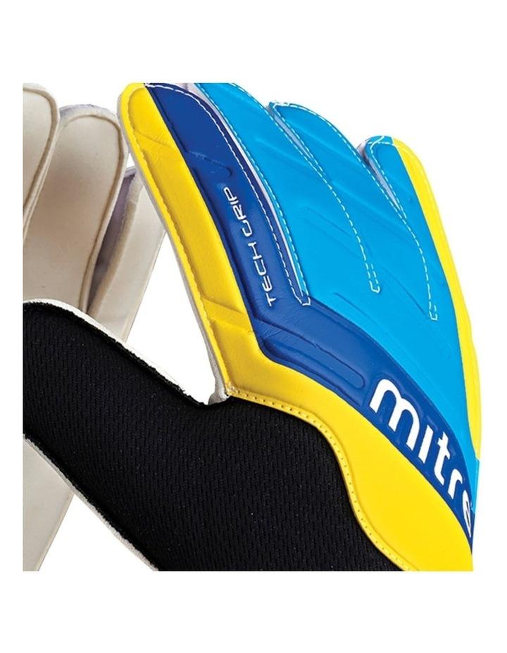 Magnetite Jnr Soccer/Football Goalie Goalkeeper Gloves Pair Size 6 Cyan image 2