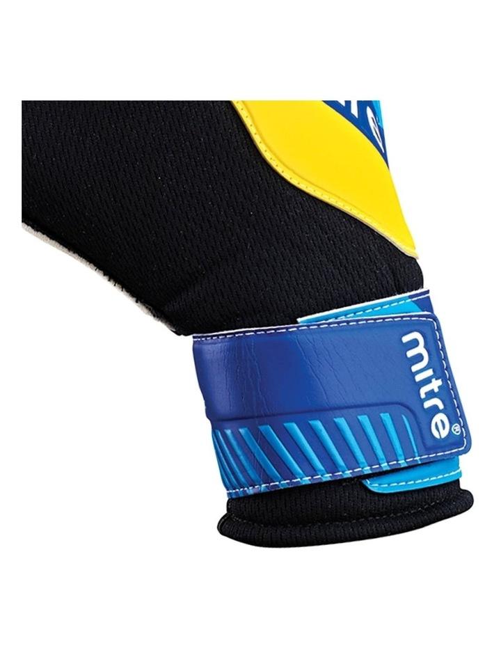 Magnetite Jnr Soccer/Football Goalie Goalkeeper Gloves Pair Size 6 Cyan image 3