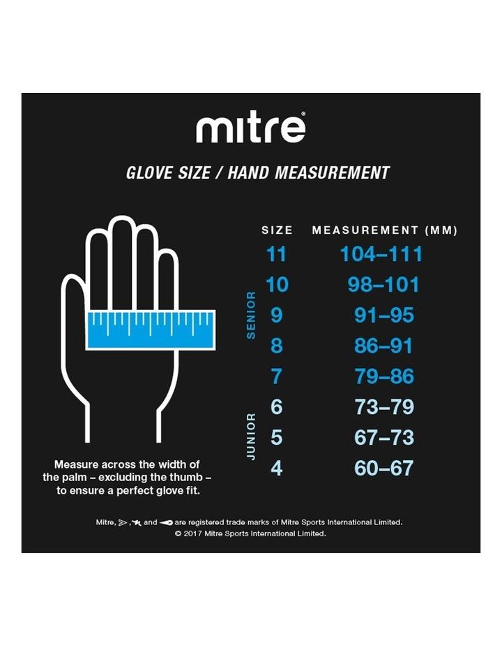Magnetite Jnr Soccer/Football Goalie Goalkeeper Gloves Pair Size 6 Cyan image 4