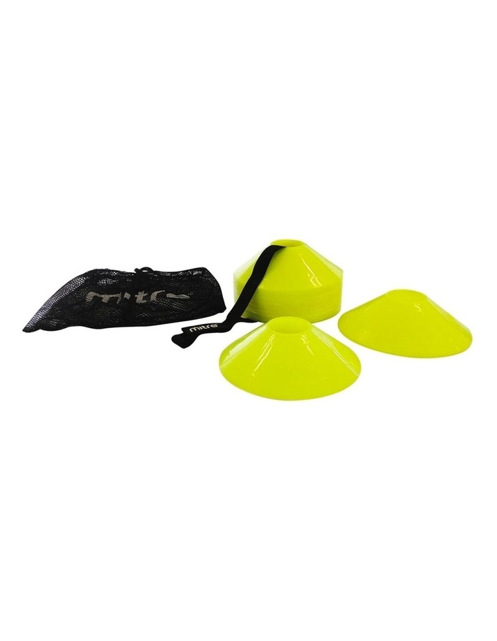 30pc Sports Marker Pitch Cones for Soccer Football Fitness Training Yellow image 1