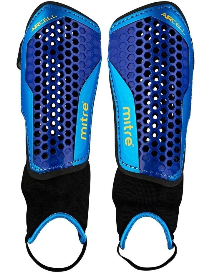 Aircell Carbon Soccer Shinguard/Shin Pad Ankle Sock Protector Size Large image 1