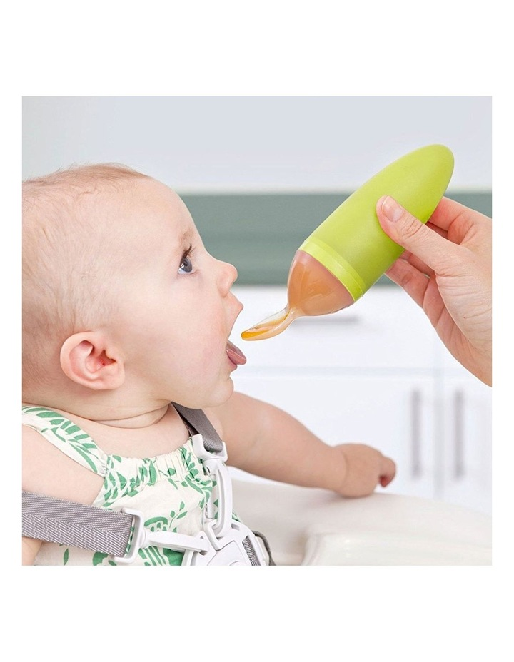 Squirt Green Silicone Food Feeding Dispensing Spoon/Utensils for Baby image 3
