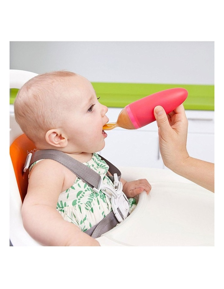 Squirt Orange Silicone Baby Food Feeding Dispensing Spoon for Baby/Toddler image 4