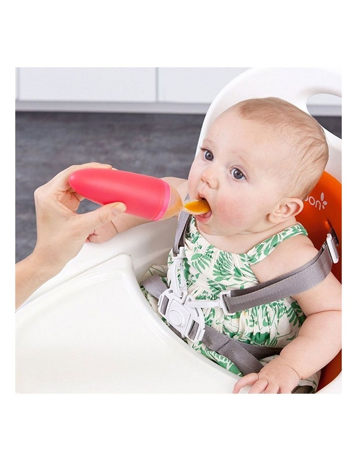 Squirt Orange Silicone Baby Food Feeding Dispensing Spoon for Baby/Toddler image 5